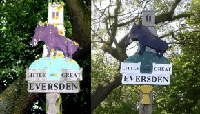 Old New Village sign