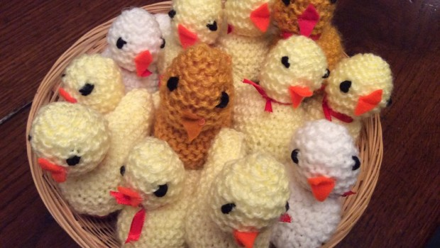 2017-04-14 Knitted Chicks Easter