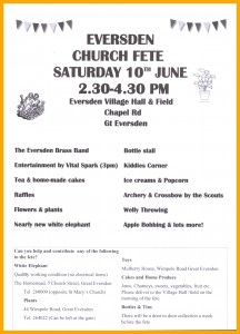 2017 Eversden Fete