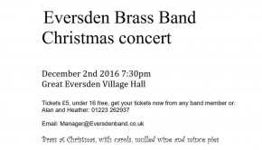 Eversden Brass Band homepage