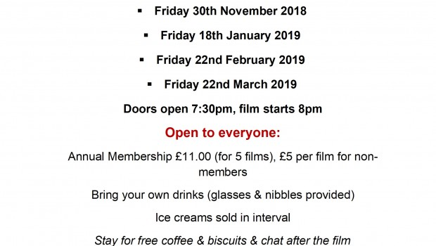 Film Night Poster all dates
