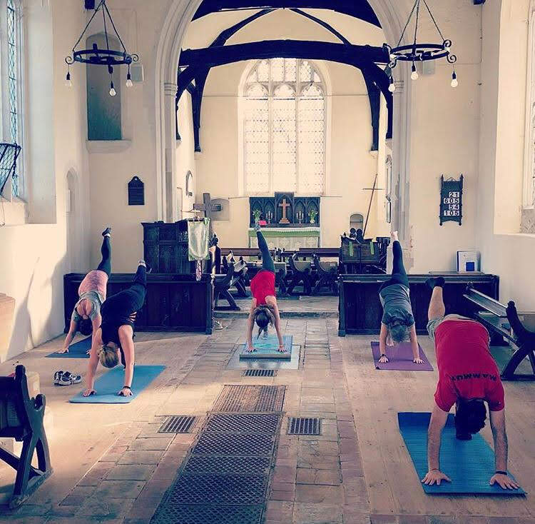 The adult fitness class at St Mary's Church when the Village Hall was booked for an event
